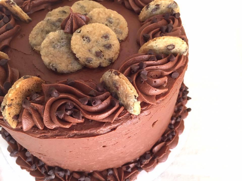 Tara's beautiful chocolate cake. Photo credit to Tara Nudi.